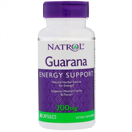 Guarana 200mg 90 κάψουλες - Natrol / Λιποδιαλύτης - Ενεργειακό