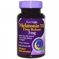 Melatonin 3 mg Time Release 100 ταμπλέτες Μελατονίνη Άγχος Αϋπνία - Natrol / Ειδικά Συμπληρώματα