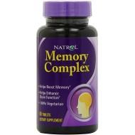 Memory Complex με Ginkgo Biloba & Βενποσετίνη 60 ταμπλέτες - Natrol / Μνήμη - Συγκέντρωση