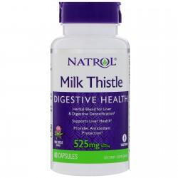 Milk Thistle 525mg 60 κάψουλες Γαϊδουράγκαθο - Natrol / Συκώτι Ηπατοπροστασία