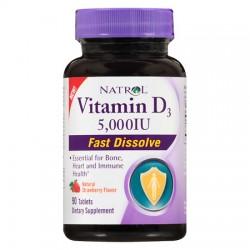 Vitamin D3 5.000IU Fast Dissolve 90 ταμπλέτες - Natrol / Βιταμίνες
