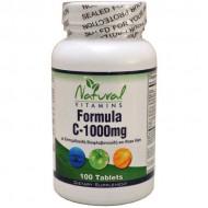 Vitamin C-1000 with Bioflavonoids 100 tabs - Natural Vitamins