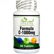 Vitamin C-1000 with Bioflavonoids 30 tabs - Natural Vitamins