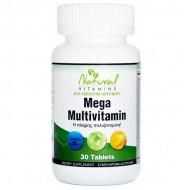 Mega Multi Πολυβιταμίνη 30 tabs  - Natural Vitamins