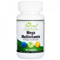 Mega Multi Πολυβιταμίνη 30 tabs  - Natural Vitamins