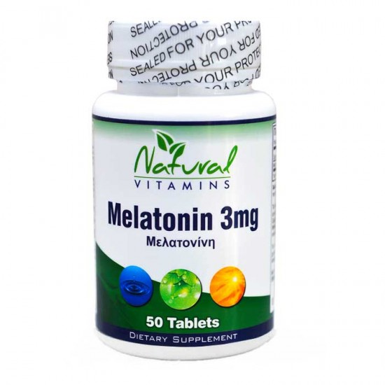 Melatonin 3mg 50 tabs - Natural Vitamins