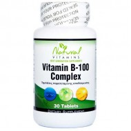 Vitamin B-100 Complex 30 tabs - Natural Vitamins
