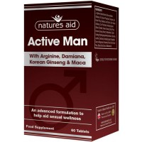 Active Man with Arginine, Damiana, Ginseng & Maca 60 ταμπλέτες - Natures Aid / Σεξουαλική Υγεία