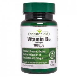 Vitamin b12 1000ug 90 υπογλώσσιες ταμπλέτες Nature's Aid