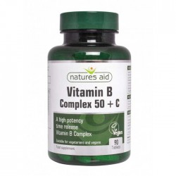 Vitamin B Complex 50 + C 90 ταμπλέτες - Natures Aid / Βιταμίνες