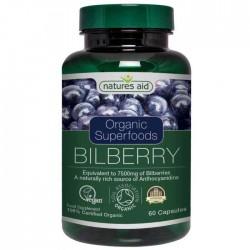 Bilberry Organic  60 vcaps - Natures Aid / Βιολογικό Μύρτιλλο