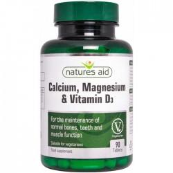 Calcium Magnesium and Vitamin D3 90 ταμπλέτες - Natures Aid  / Βιταμίνες και Μέταλλα