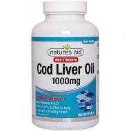 Cod Liver Oil 1000 mg 180 softgels Μουρουνέλαιο - Natures Aid / Ωμέγα 3