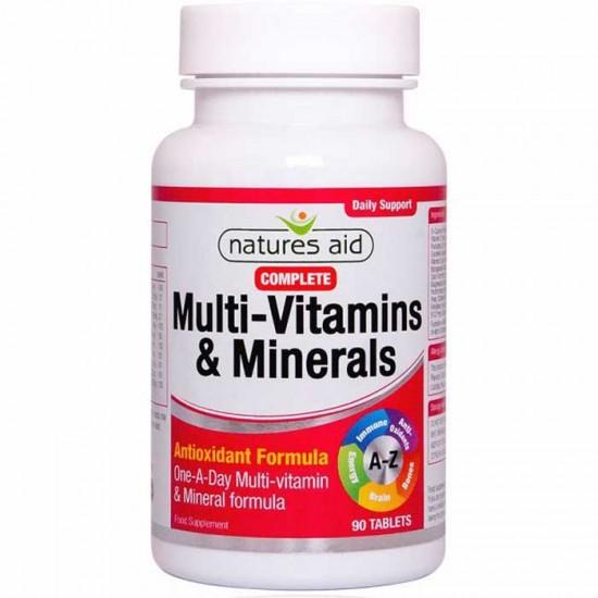 Complete Multi-Vitamins & Minerals Natures Aid 90 κάψουλες -  Πολυβιταμίνη και για  Vegetarians