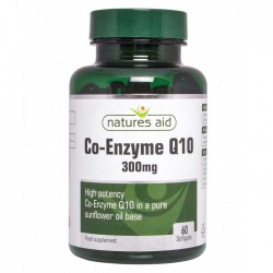 Co-Enzyme Q10 300 mg 60 ταμπλέτες - Natures Aid / Ειδικά Προϊόντα