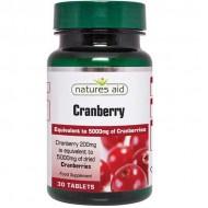 Cranberry 200 mg - 30 ταμπλέτες Natures Aid / Ανοσοποιητικό - Ουροποιητικό