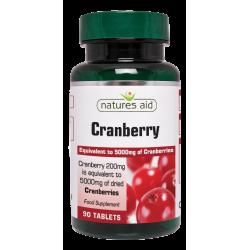 Cranberry 200 mg 90 ταμπλέτες - Natures Aid / Ανοσοποιητικό