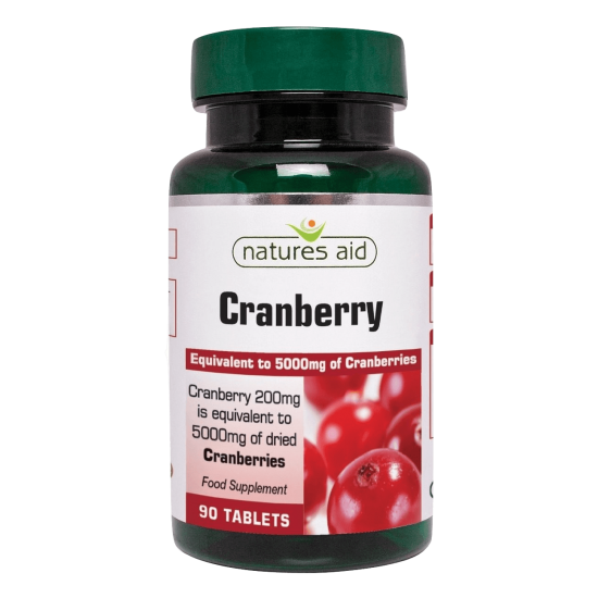 Cranberry 200 mg 90 ταμπλέτες - Natures Aid / Ανοσοποιητικό