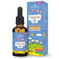 Vitamin D3 400iu Drops για βρέφη και παιδιά Natures Aid 50 ml - Βιταμίνη D3 σε σταγόνες