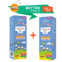 Vitamin D3 400iu Drops για βρέφη και παιδιά Natures Aid 2 x 50 ml (Special Price)