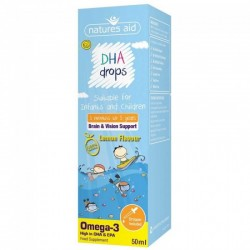 DHA (Omega-3) Drops για βρέφη και παιδιά 50 ml Nature's Aid / Ωμέγα 3