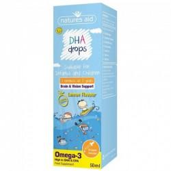 DHA (Omega-3) Mini Drops για βρέφη και παιδιά 50 ml Natures Aid / Ωμέγα 3