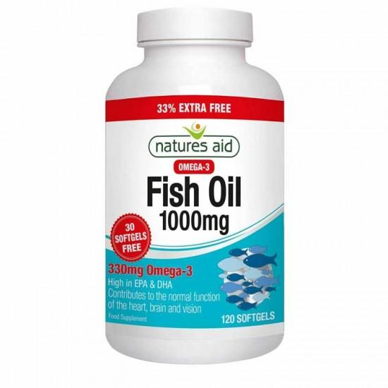 Fish Oil 1000 mg 120 softgels Natures Aid / Ωμέγα 3 λιπαρά