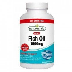 Fish Oil 1000 mg 240 softgels Natures Aid / Ωμέγα 3 λιπαρά