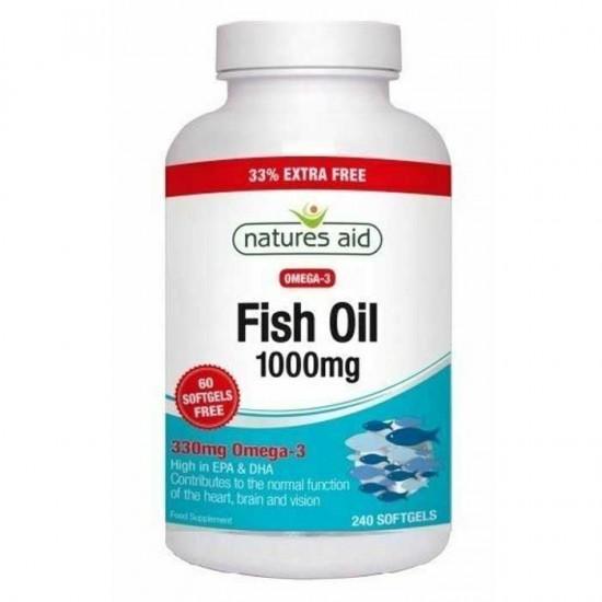 Fish Oil 1000 mg 240 softgels Natures Aid / Ωμέγα 3 λιπαρά