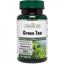 Green Tea 10,000mg 60 Tabs - Natures Aid