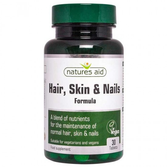 Hair, Skin and Nails Formula 30 ταμπλέτες - Natures Aid / Μαλλιά - Δέρμα - Νύχια