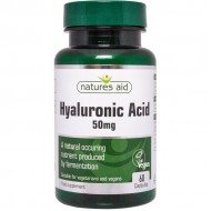Hyaluronic Acid 50mg 60 κάψουλες - Natures Aid / Υαλουρονικό Οξύ