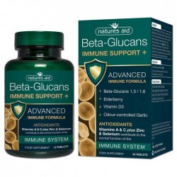 Immune Support+ with Beta Glucans 30 tablets - Natures Aid / Ανοσοποιητικό