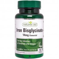 Iron Bisglycinate with Ester C and Vitamin B12 90 ταμπλέτες - Natures Aid / Σίδηρος