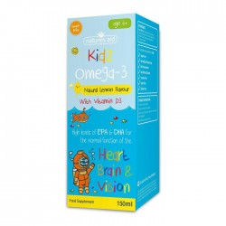 Kidz Omega-3 (με Βιταμίνη D3) 150ml - Natures Aid / Ωμέγα3 για παιδιά 6+