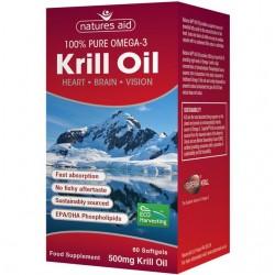 Krill Oil Superba 500mg 60 μαλακές κάψουλες - Omega 3 - Natures Aid / Ωμέγα Λιπαρά Οξέα