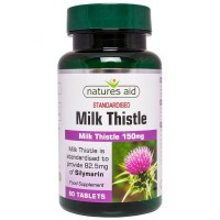 Milk Thistle 150mg 60 ταμπλέτες - Natures Aid / Συκώτι Ηπατοπροστασία