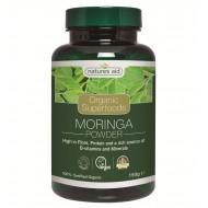 Organic Moringa Powder 150γρ - Natures Aid / Υπερτροφές