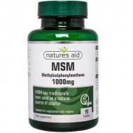 MSM 1000mg 90 tabs Natures Aid - Αρθρώσεις