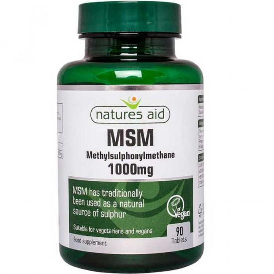 MSM 1000mg 90 tabs Natures Aid - Αρθρώσεις