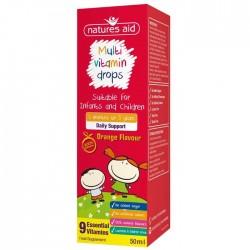 Multi-vitamin Mini Drops για βρέφη και παιδιά 50 ml - Natures Aid - Βιταμίνες