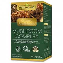 Organic Mushroom Complex 60 κάψουλες - Natures Aid / Φυτικό συμπλήρωμα με Μανιτάρια