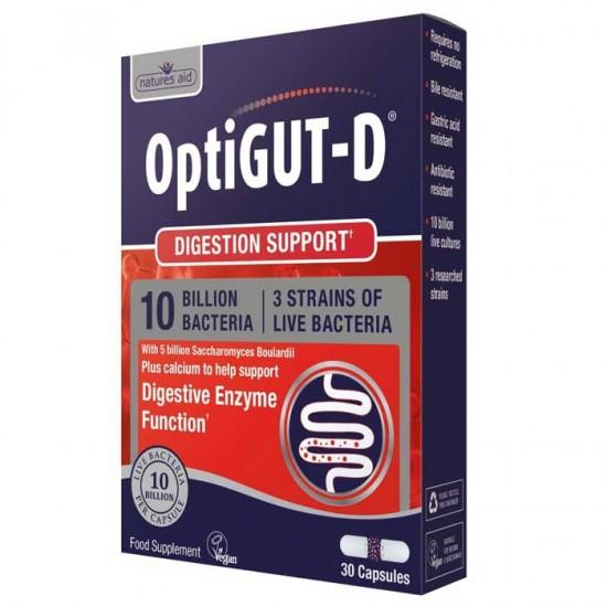 OptiGUT-D (10 Billion Bacteria) 30 vcaps - Natures Aid