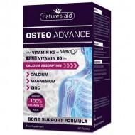 Osteo Advance Vitamin D3 K2 MenaQ7 60 ταμπλέτες - Natures Aid / Οστά - Ειδικά Συμπληρώματα
