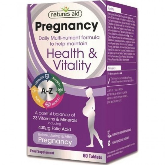 Pregnancy Multi Vitamins & Minerals 60 ταμπλέτες -Natures Aid / Γυναικεία Προϊόντα