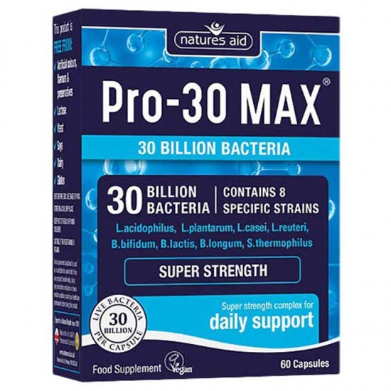 PRO-30 Max Natures Aid 60 κάψουλες / Προβιοτικό