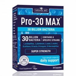 PRO-30 Max Natures Aid 30 κάψουλες / Προβιοτικό