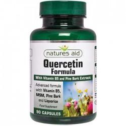 Quercetin Formula με Βιταμίνη B5 & MSM Natures Aid 90 κάψουλες / Ισχυρό Αντιοξειδωτικό