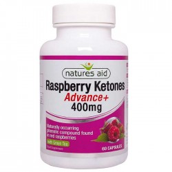Raspberry Ketones Advance with Green Tea 400mg 60 κάψουλες - Natures Aid / Γυναικεία Προϊόντα