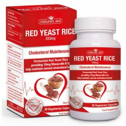 Red Yeast Rice (Providing 10mg Monacolin K) 30 vcaps Natures Aid / Χοληστερόλη - Καρδιά